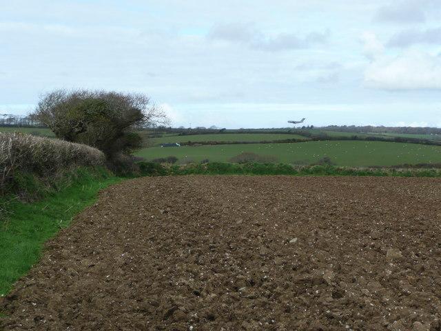 Arable field near Bosoughan