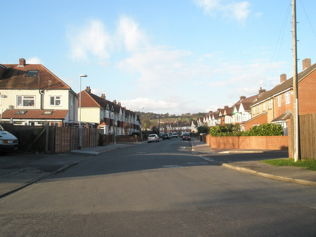 Looking northwards up Court Lane
