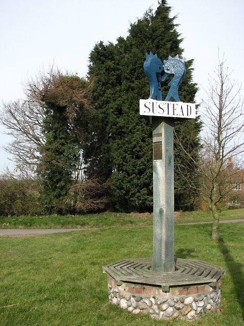 Sustead - village sign