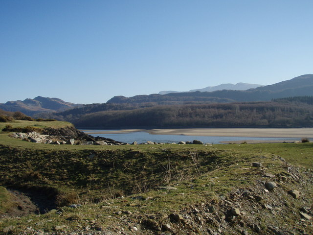 Looking across the Mawddach from the shore at Caerdeon