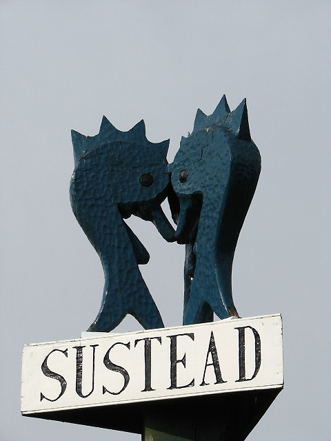 Sustead - village sign detail