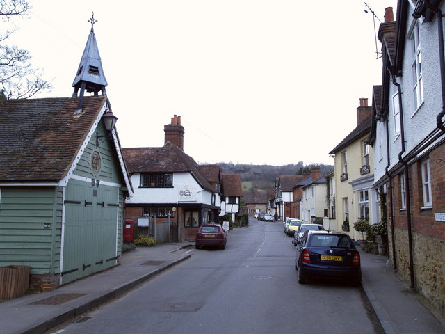 Shere Main Street at Dusk