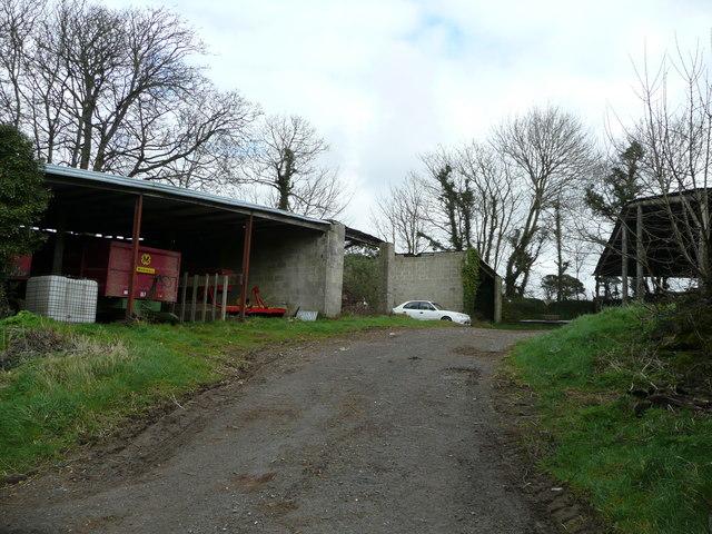 Farm buildings at Trebudannon