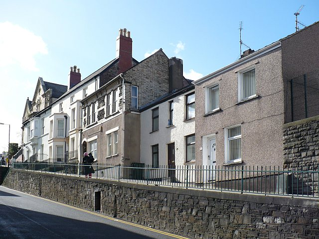 Looking up Stow Hill