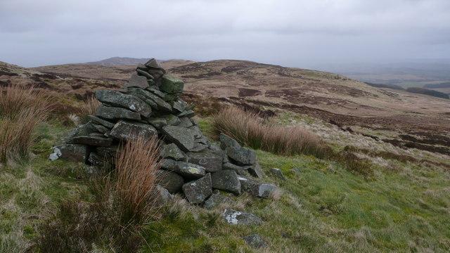 Cairn on Bennan hillside