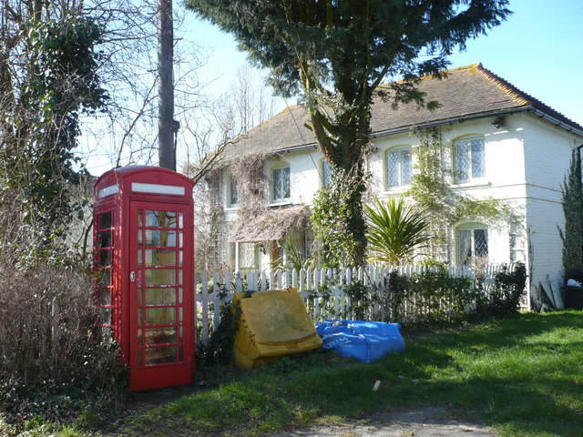 An old-style telephone box in West Stourmouth
