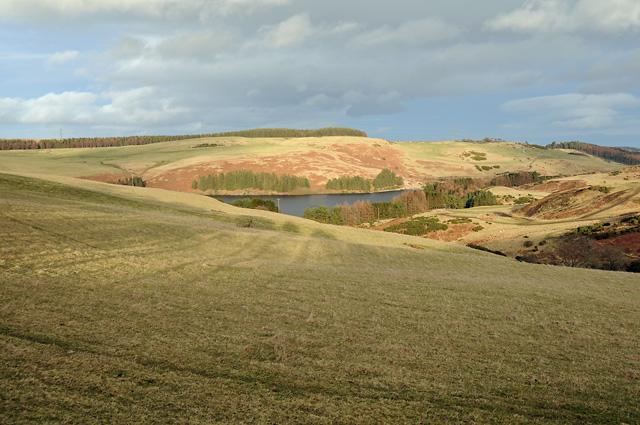 Farmland and Glenfarg Reservoir