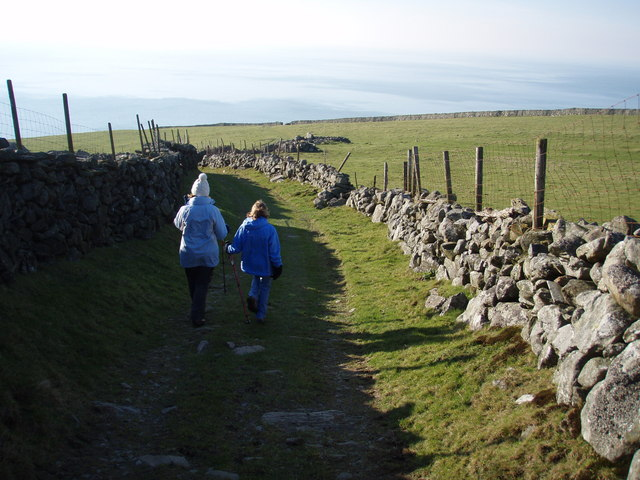 Walking down to Llanaber