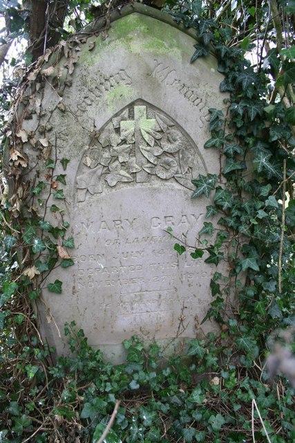 Mary Gray's grave