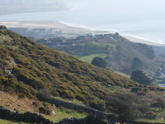 Barmouth from the hillside above Llanaber