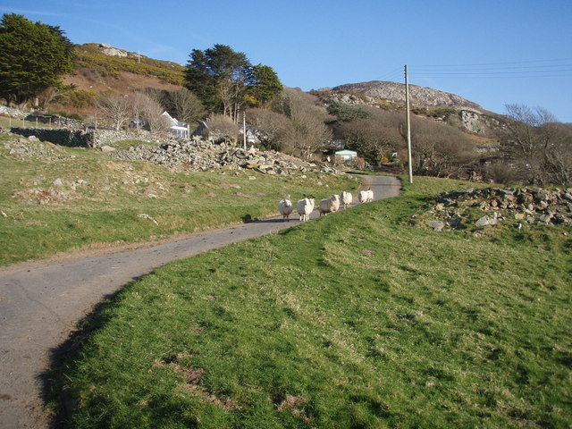 Footpath to old drove roads above Llanaber