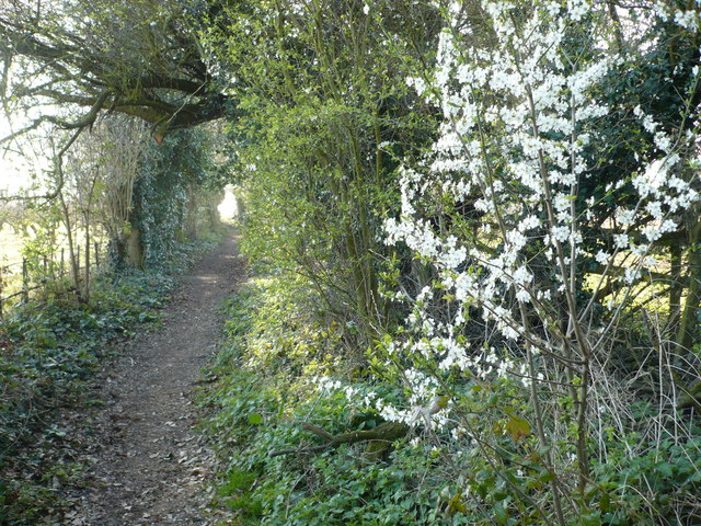 The start of the bridleway to Perry from Elmstone