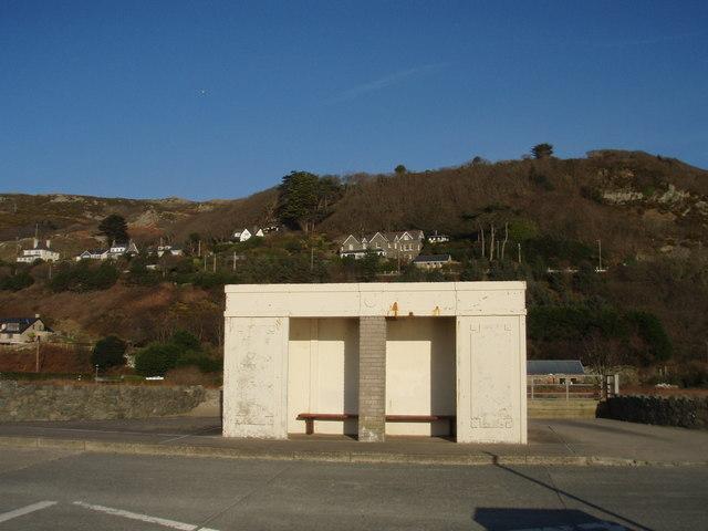 Barmouth promenade shelter