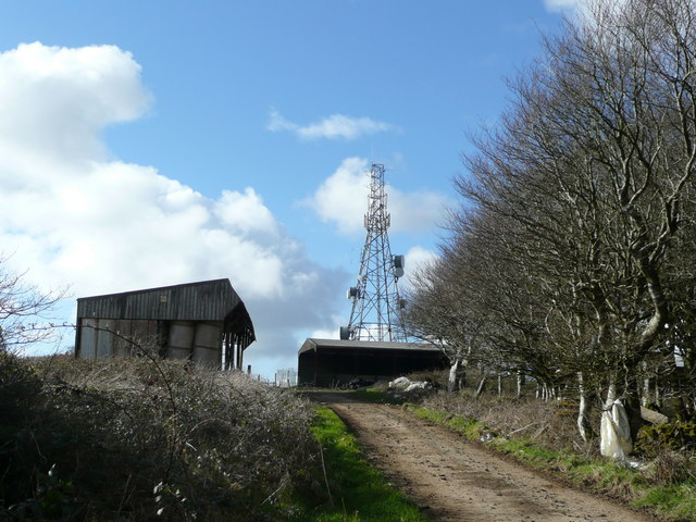 Farm buildings and communications tower