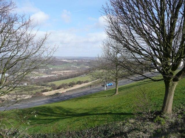 Dewsbury Road from Banks End Road, Elland
