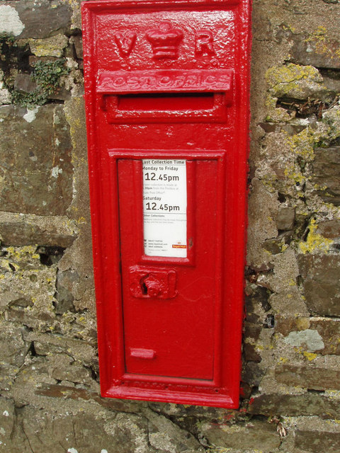 Victorian wall postbox at St Gennys