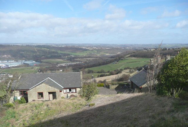 Bungalow and view, Elland
