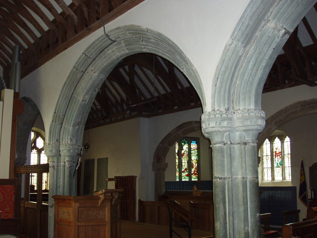 North aisle arches, St Gennys church