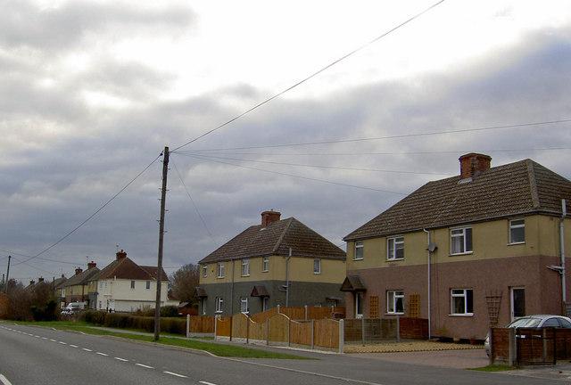 Housing on Ashby Road Belton