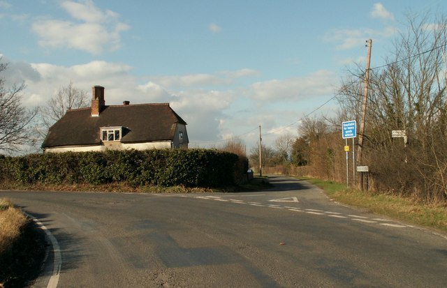 Road junction, close to Fyfield