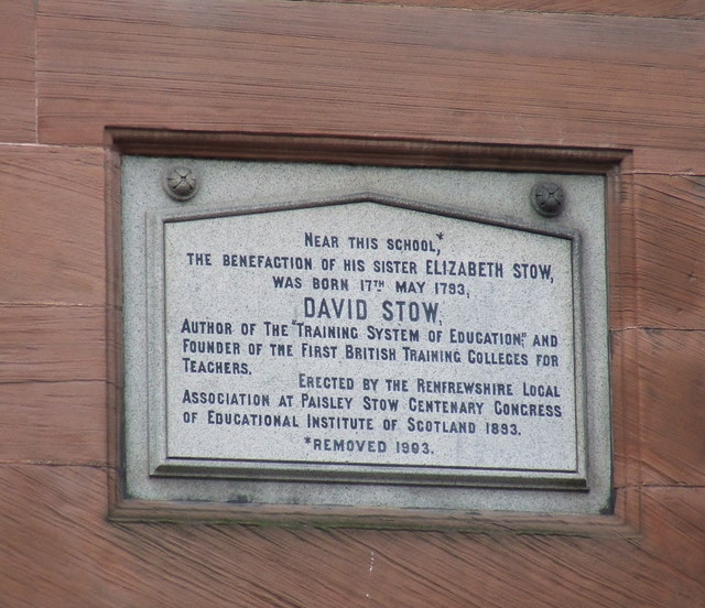 Plaque on Causeyside Street