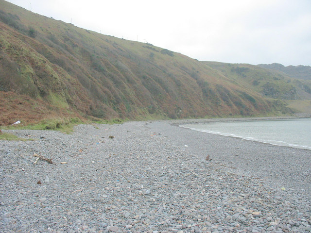 Beach berms between Porth y Nant and Penrhyn Glas