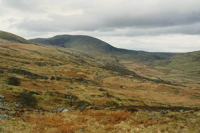 View down Cwm Nantcol from the mines