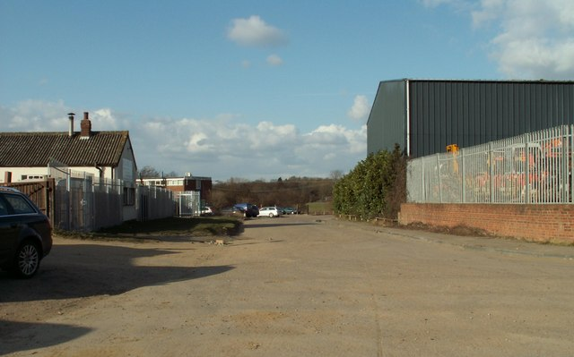 Part of the industrial estate on Ongar Road