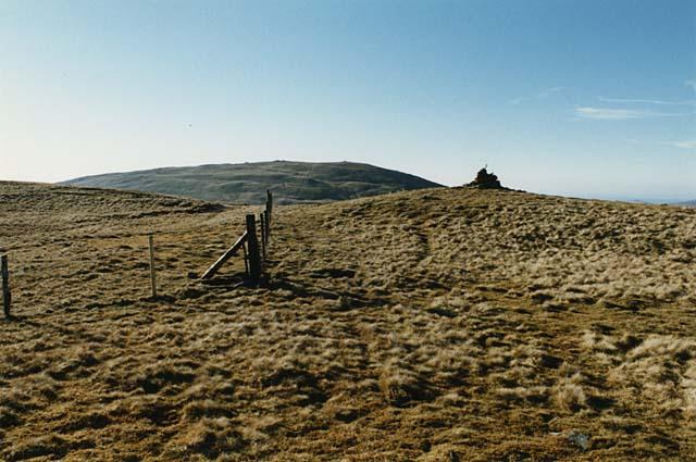 The summit of Pumlumon Llygad Bychan