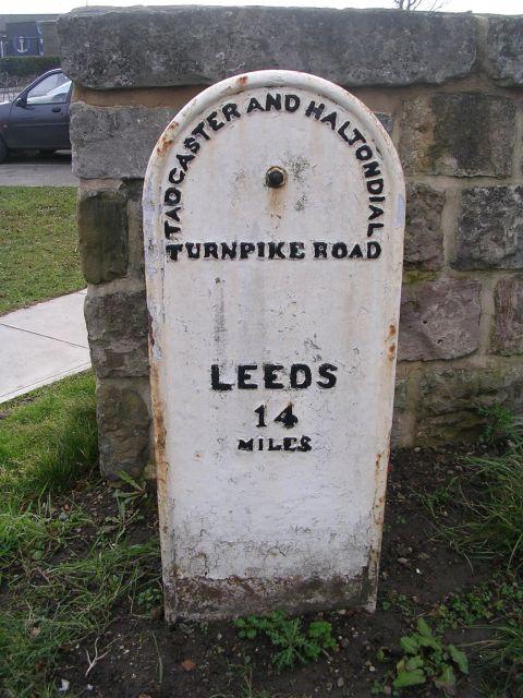 Milestone - Leeds Road