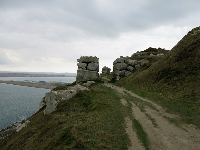 The coastal path on the west side of Portland