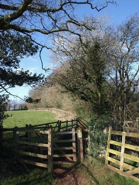 Gate on footpath, Marldon