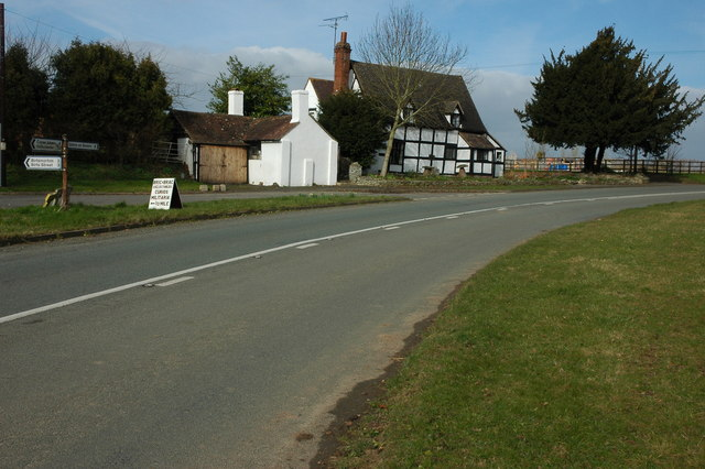 Cottage on the B4211 at Longdon