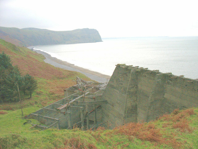 View across the abandoned shipping facility at Cae'r Nant Quarry