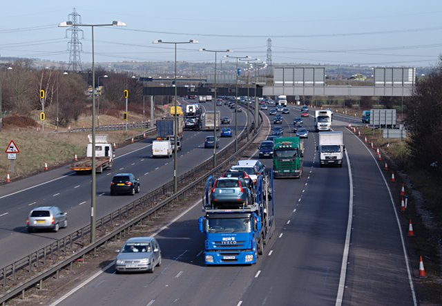 The M1 at Junction 24