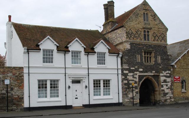 Fishergate house and the Fishergate, The Quay, Sandwich,Kent