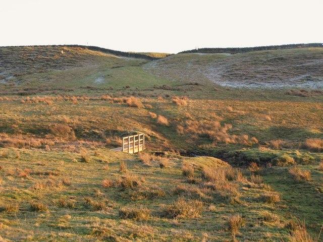 Footbridge on the path to Hadrian's Wall