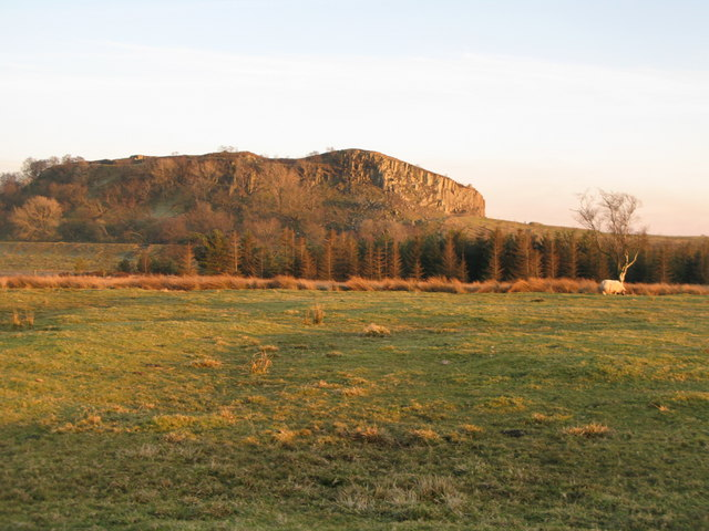 Pastures and moorland near Walltown Crags
