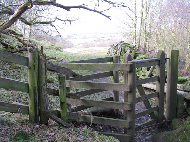 Another kissing gate on the path to Oakpool