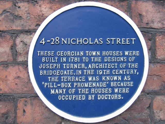 4-28 Nicholas Street blue plaque
