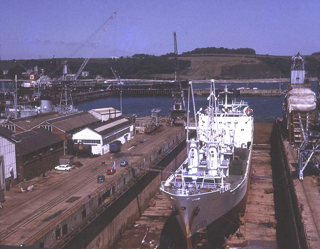 Dry dock at Falmouth