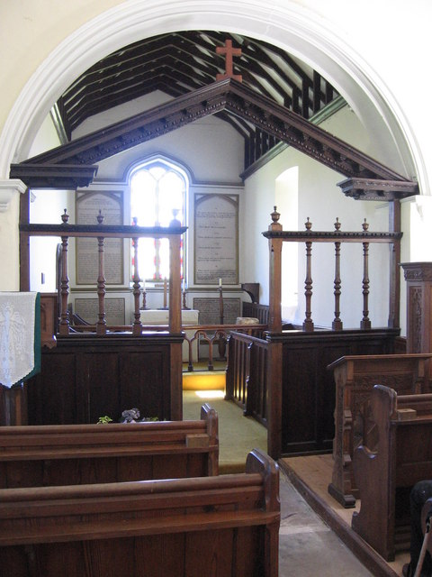 Interior of Countisbury Church