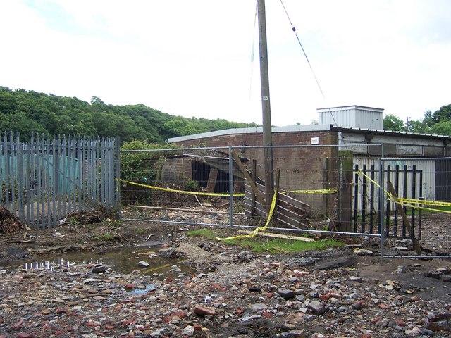 Flood damage in Oughtibridge