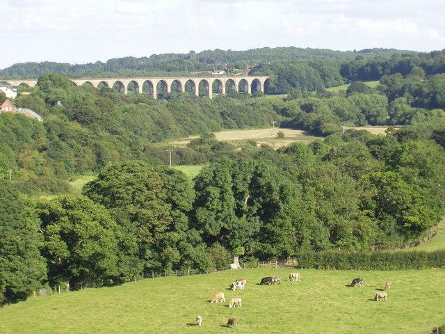 Cefn viaduct from Pontcysyllte aqueduct
