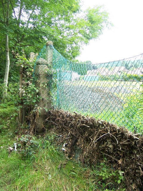 Flood debris in Oughtibridge