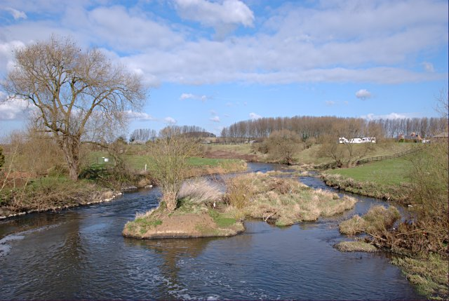 River Soar downstream of Cotes Bridge and weir