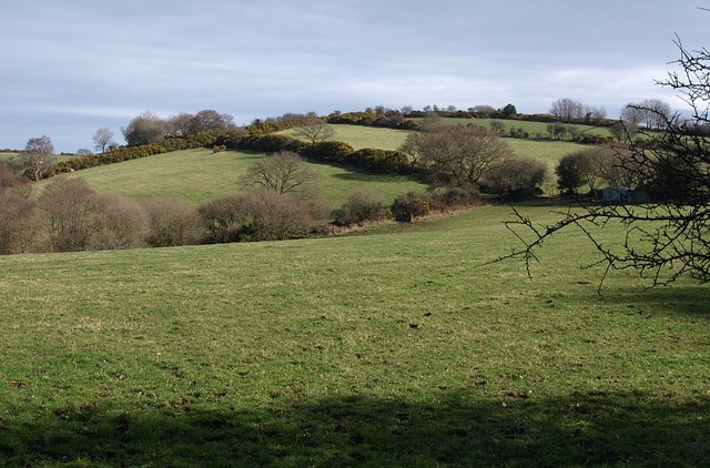 Fields near Langaford
