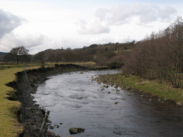 Eroding bank of the River East Allen