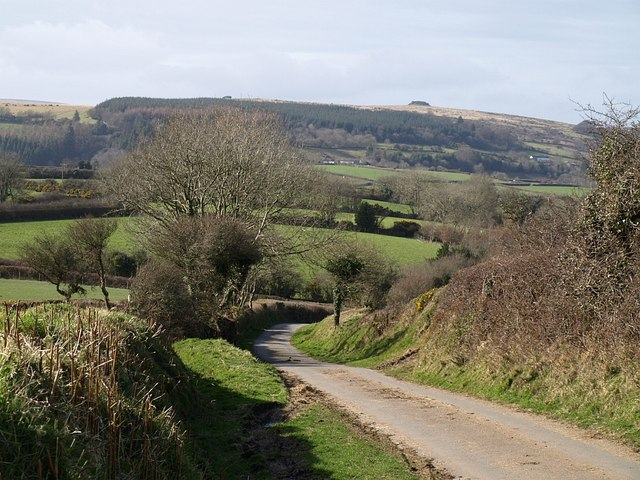 Lane from Corndon