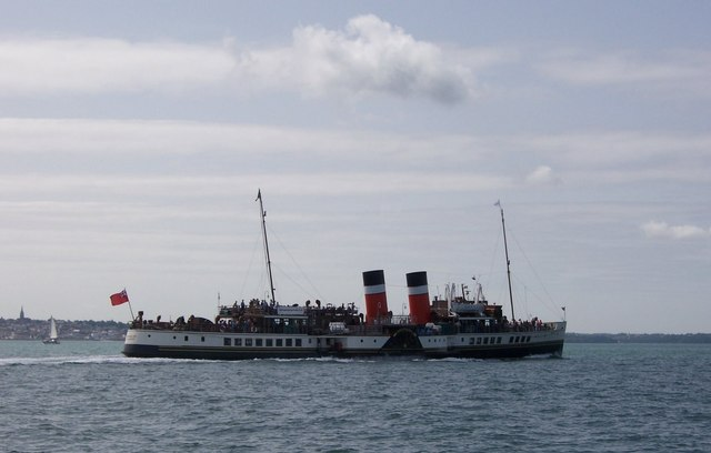 Paddle Steamer Waverley- In the Solent